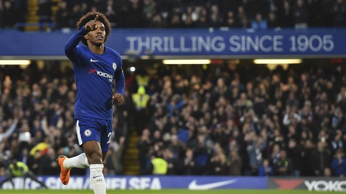 Willian. (AFP/Glyn Kirk)