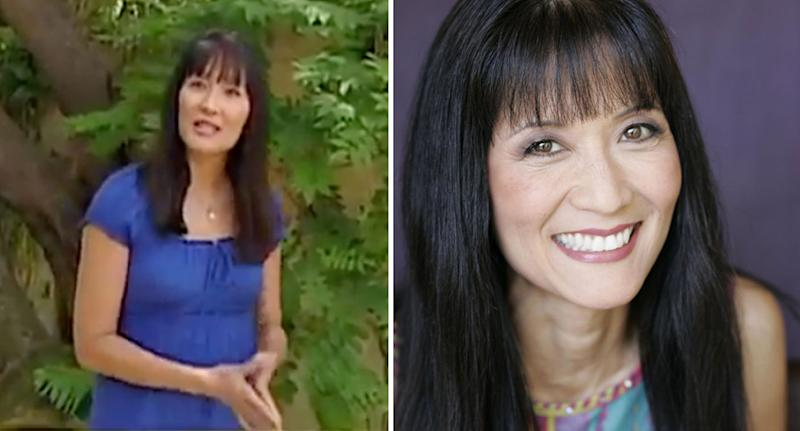 Suzanne Whang hosted House Hunters (pictured left is a still from the show) and on the right she is pictured in a Facebook photo. She died aged 56.