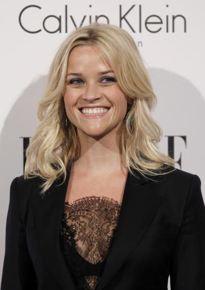 Actress Reese Witherspoon arrives at the 18th Annual ELLE Women in Hollywood celebration in Beverly Hills, Calif., Monday, Oct. 17, 2011.  The dinner celebrates women's achievements in film. (AP Photo/Matt Sayles)