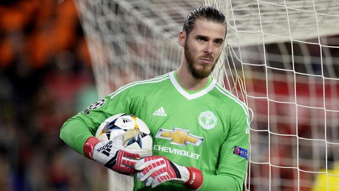 Kiper Manchester United, David De Gea. (AFP/Cristina Quicler)