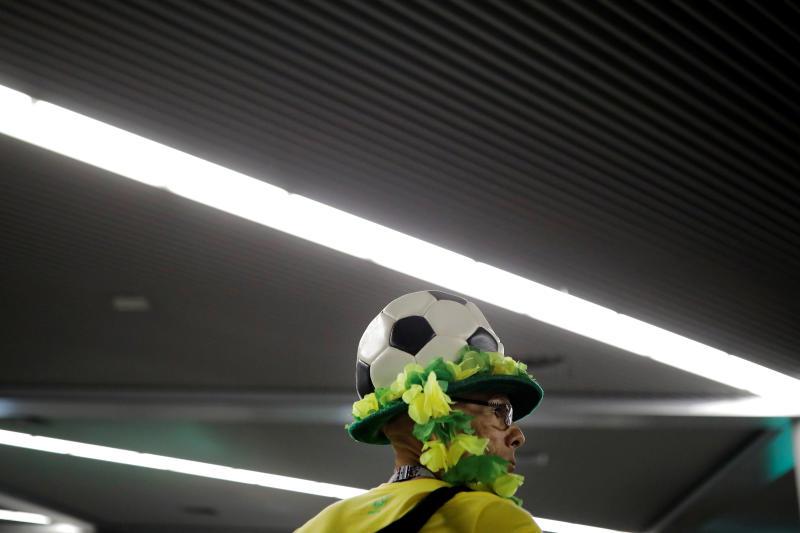 A Brazilian soccer fan