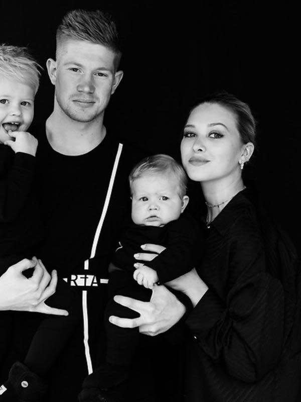 Kevin De Bruyne dan Michele Lacroix telah dikaruniai dua orang anak. (foto: https://www.instagram.com/lacroixmichele)