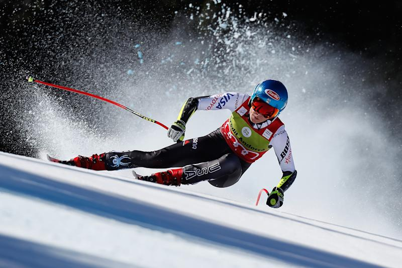 Mikaela Shiffrin of USA competes during the Audi FIS Alpine Ski World Cup Men's and Women's Super G in Soldeu Andorra on March 14, 2019. | Alexis Boichard—Agence Zoom/Getty Images