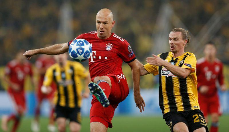FILE PHOTO: Champions League - Group Stage - Group E - AEK Athens v Bayern Munich