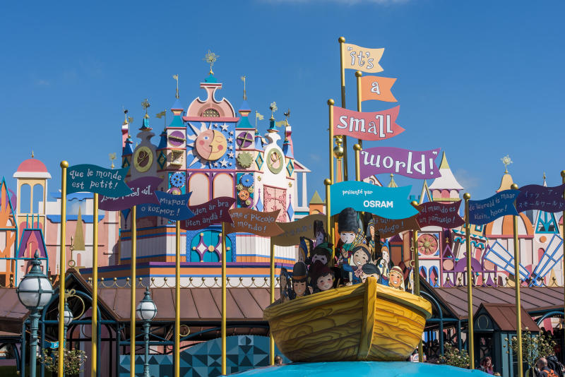 Enjoy family favourites such as It's A Small World. [Photo: Disney]