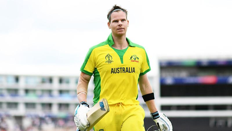 Steve Smith after scoring a century. (Getty Images)
