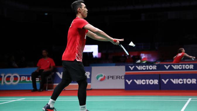 Tunggal putra Indonesia Jonatan Christie lolos ke babak kedua Malaysia Masters yang berlangsung di Axiata Arena, Kuala Lumpur, Malaysia, Rabu (8/1/2020). (foto: PBSI)