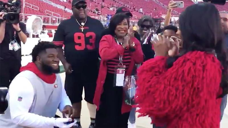 D.J. Jones proposed to his girlfriend before San Francisco's match.
