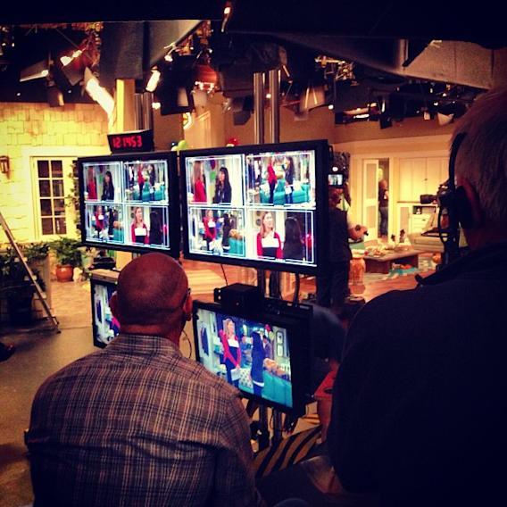The 4th wall in the Duncan house is made of monitors… #goodluckcharlie
