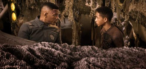 "This film publicity image released by Sony - Columbia Pictures shows Will Smith, left, and Jaden Smith in a scene from ""After Earth."" (AP Photo/Sony, Columbia Pictures)"