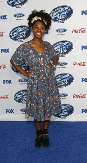 "Rose poses at the party for the finalists of ""American Idol XIII"" in West Hollywood"