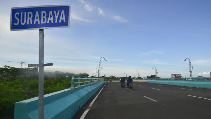 Jalan MERR IIC Surabaya, Jawa Timur. (Foto: Liputan6.com/Dian Kurniawan)