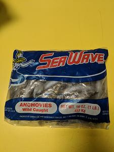 Sea Wave Frozen Anchovies Fishing Bait, 1 Lb.