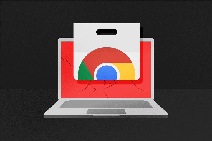 chrome web store logo on computer