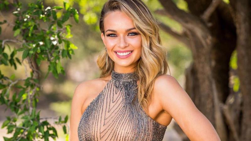 Chelsie McLeod Abbie Chatfield Matt Agnew The Bachelor Australia 2019. Photo: Channel 10.