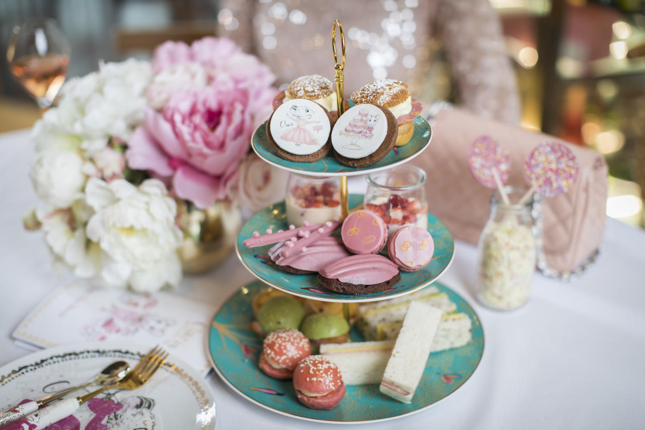 "The Claris the Mouse high tea at Sofitel Sydney Darling Harbour features the title star of Megan Hess' beautifully illustrated Claris, the Chicest Mouse in Paris books. It includes free-flowing tea and coffee, pink lemonade for younger guests, a selection of savoury and sweet treats, and a chocolate fountain. Younger guests attending High Tea will leave with a Claris the Mouse gift bag. The high tea costs $69 per person ($35 for children 11 and under). A special ""Claris, the Chicest Mouse in the House"" accommodation package is available every Friday and Saturday night to October 12 from $336 a night (prepaid) in a Superior Room, including an overnight stay, late check-out 1pm, breakfast in Atelier, the Claris high tea on Saturday, and special amenities designed with young mice in mind. Children 11 and under booked with this package enjoy complimentary breakfast and complimentary high tea. Picture: Sofitel Sydney Darling Harbour"
