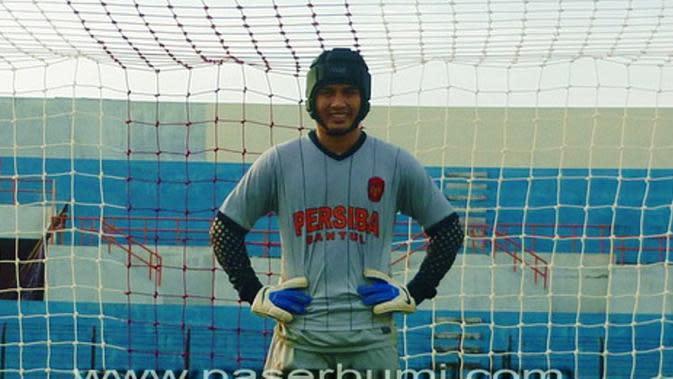 Wahyu Tri Nugroho, eks kiper Persiba Bantul dan Timnas Indonesia di era dualisme PSSI, digaet Surabaya United. (Paserbumi)