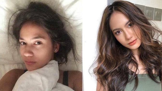 Beda Penampilan 6 Aktris Tanah Air Saat Bangun Tidur, Cantik Natural (sumber: Instagram.com/pevpearce)