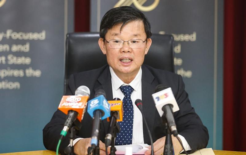 Penang Chief Minister Chow Kon Yeow said the state decided to set up the Penang Covid-19 Fund, as it had received offers for funding contributions by the private sector. ― Picture by Sayuti Zainudin