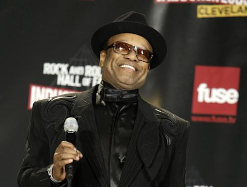 "FILE - In this April 4, 2009 file photo, soul singer Bobby Womack speak in the backstage after Womack was inducted into the Rock and Roll Hall of Fame at the 2009 Rock and Roll Hall of Fame Induction Ceremony in Cleveland. The Rock and Roll Hall of Fame inductee is known for such hits as ""Lookin' For a Love,"" and ""That's the Way I Feel About Cha."" (AP Photo/Ron Schwane)"
