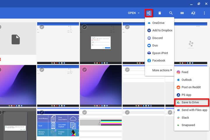 Chrome OS Save Screenshot to Drive