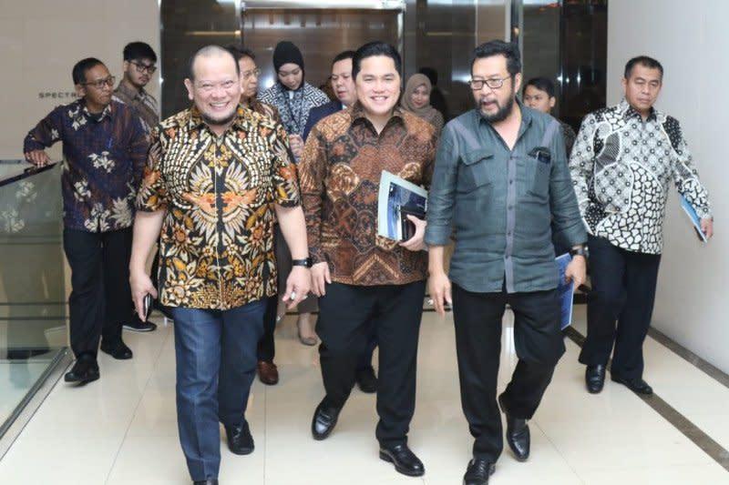 Bertemu Erick Thohir, Ketua DPD RI sampaikan keluhan soal BUMN