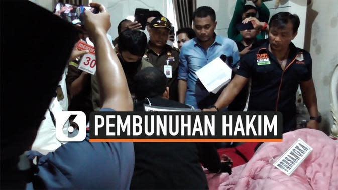 VIDEO: Rekonstruksi Ungkap Detik-Detik Pembunuhan Hakim PN Medan