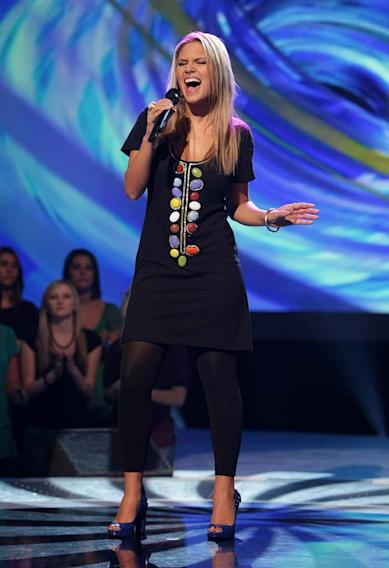 Kady Malloy performs as one of the top 20 contestants on the 7th season of American Idol.