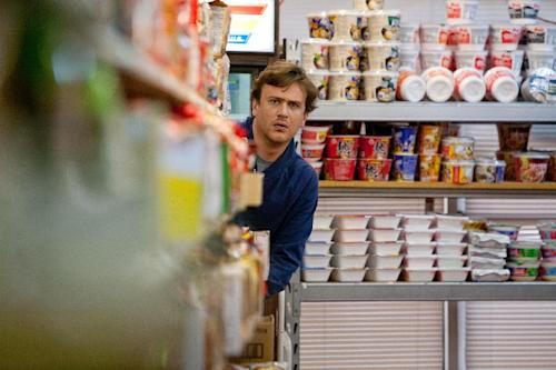 """In this film image released by Paramount Vantage, Jason Segel plays Jeff in a scene from """"Jeff, Who Lives at Home."""" (AP Photo/Paramount Vantage, Hilary Bronwyn Gayle)"""