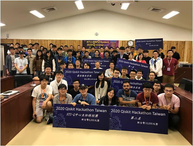 鴻海研究院與台大IBM量子電腦中心共同主辦第一屆量子Hackathon黑客松活動。(圖/鴻海提供)