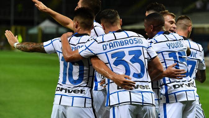 Inter Milan merampungkan musim dengan kemenangan lawan Atalanta (AFP)