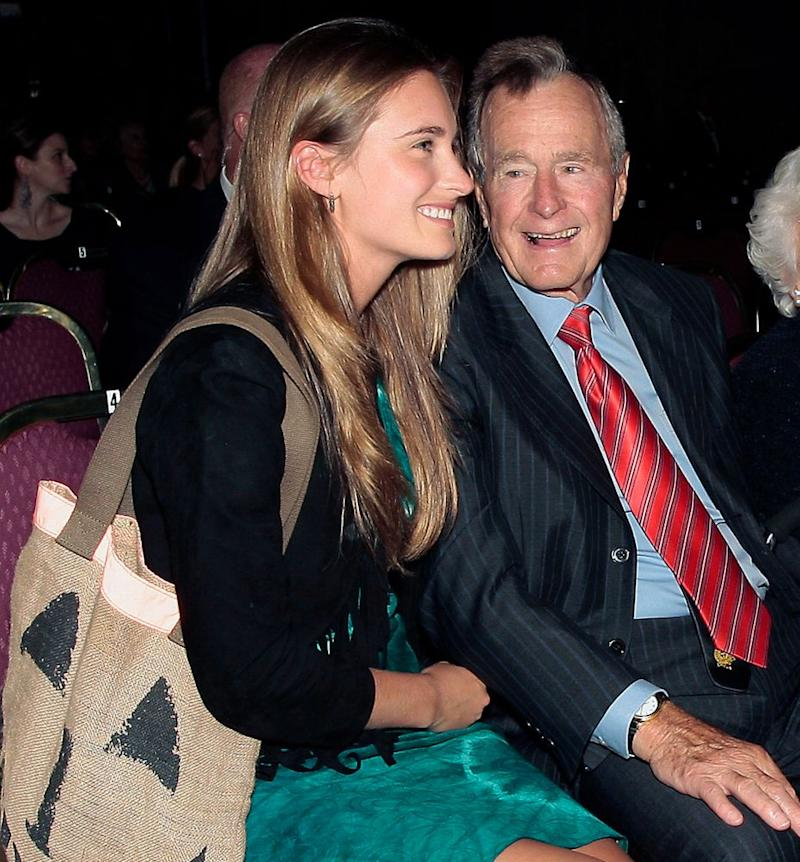 From left: Lauren Bush Lauren and former President George H. W. Bush in 2010