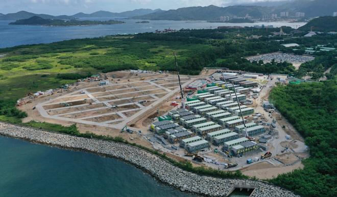 A new quarantine facility is coming up in Penny's Bay on Lantau Island. Photo: Martin Chan