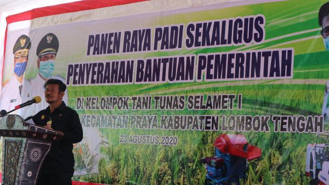 Mentan Gelontorkan Alsintan hingga Salurkan KUR Guna Dukung Pertanian Lombok Tengah