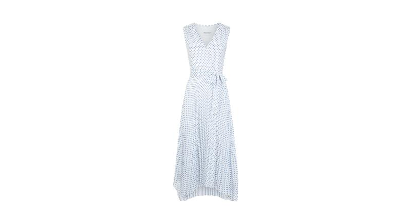 Lily Polka Dot Pleated Wrap Dress