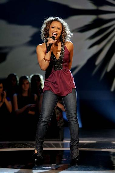 Asia'h Epperson performs as one of the top 24 contestants on the 7th season of American Idol.