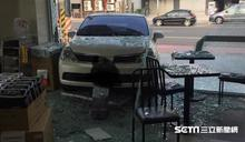 彰化轎車撞進超商裡 肇事者竟是店員