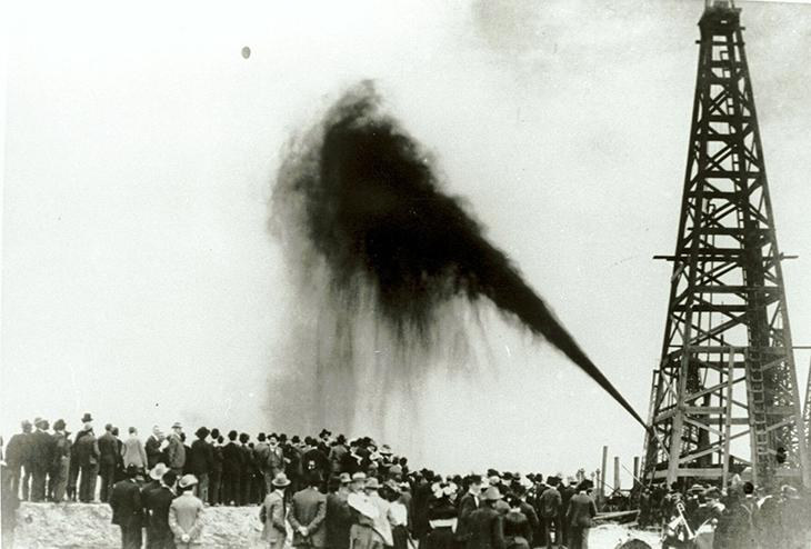 January 10: The Spindletop oil gusher launches the gasoline era on this date in 1901