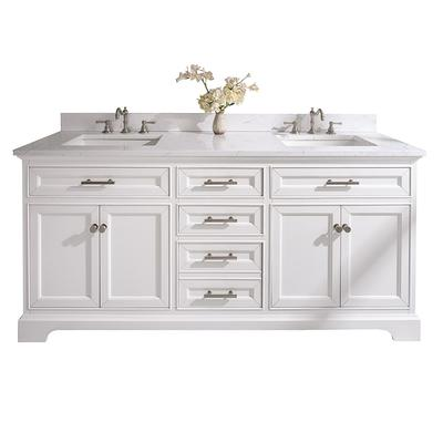 Sterling Rivers Inc Thompson 72 In W X 22 In D Bath Vanity In White With Engineered Stone Vanity Top In Carrara White With White Basins Yahoo Shopping