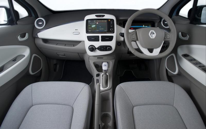 Renault Zoe electric car - interior