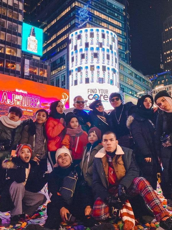 Kekompakan keluarga besar Gen Halilintar saat liburan bersama. (Sumber: Instagram/@attahalilintar)