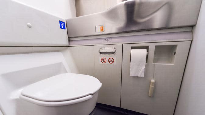 Cara Aman Menggunakan Toilet di Pesawat (tratong/Shutterstock
