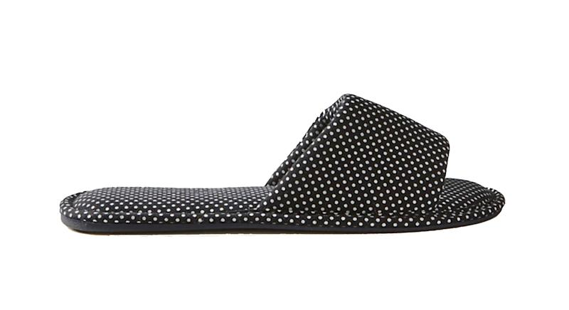 Spotted Open Toe Mule Slippers