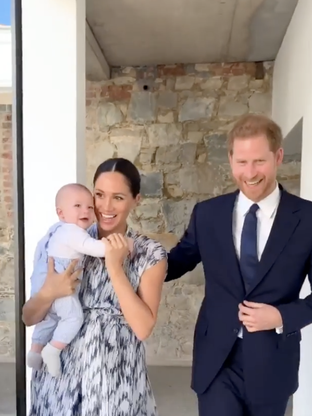 Archie Mountbatten Windsor has made his adorable first royal appearance. Photo: Instagram/sussexroyal