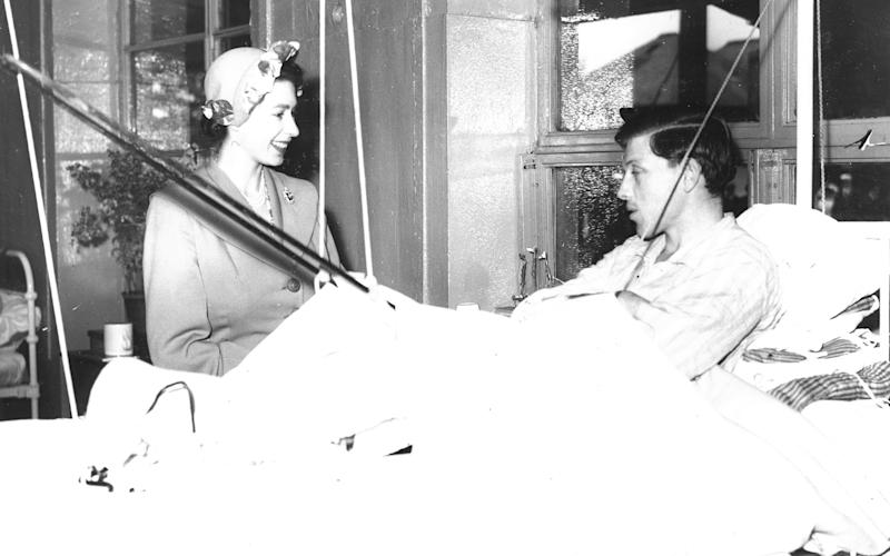 The then Princess Elizabeth visiting a Red Cross hut for tuberculosis patients in 1951  - British Red Cross Museum and Archives