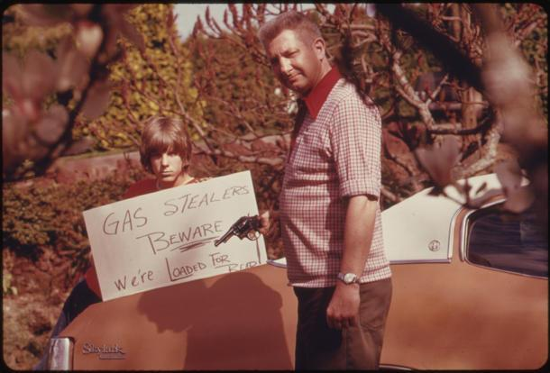 How to deter gas thieves, circa 1974: Flickr photo of the day