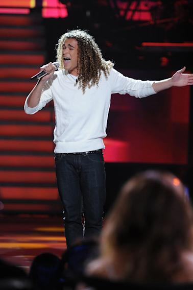 "DeAndre Brackensick performs ""Reasons"" by Earth, Wind & Fire on ""American Idol."""