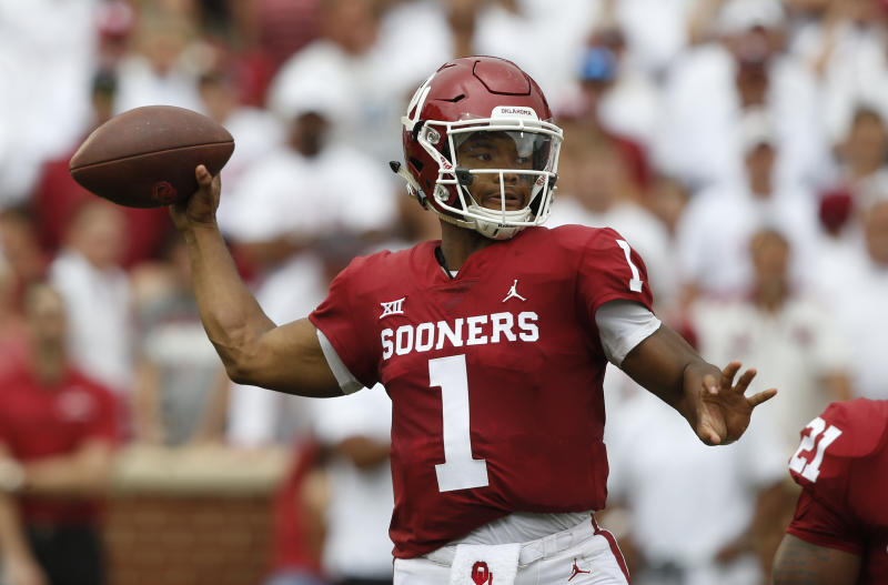 Quarterback Kyler Murray is likely to be a high pick in this year's NFL draft. (AP)