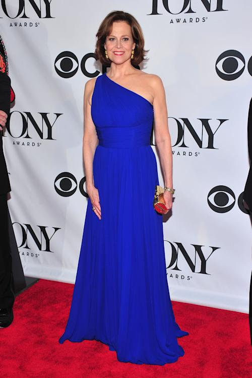 Sigourney Weaver arrives on the red carpet at the 67th Annual Tony Awards, on Sunday, June 9, 2013 in New York. (Photo by Charles Sykes/Invision/AP)
