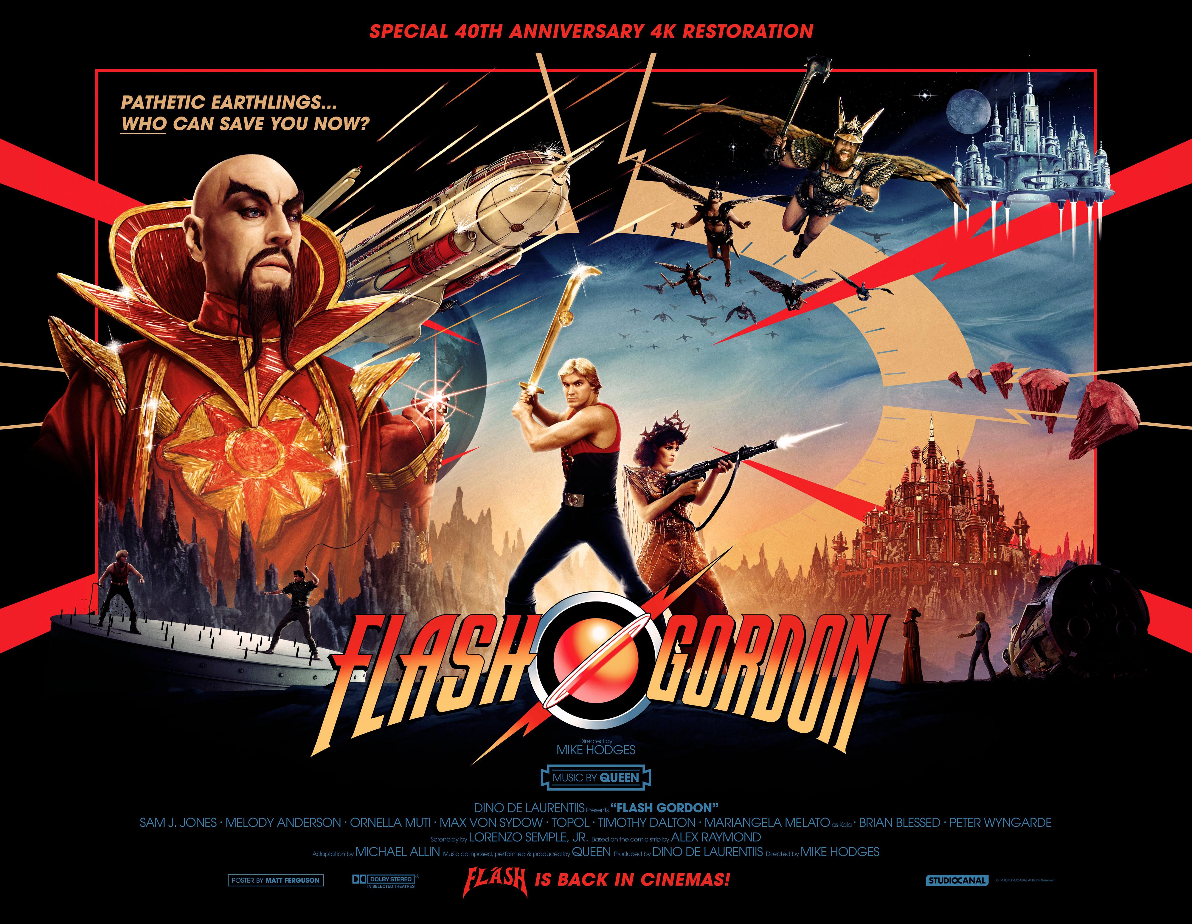 New artwork for the 4K remaster of Flash Gordon. (Studiocanal)
